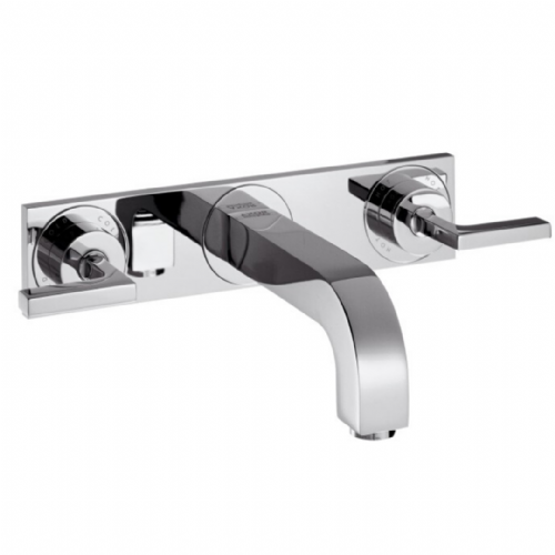 Hansgrohe Axor Citterio 3 Tap Hole Wall Mounted Bath Mixer With Handle - Model Number 39316000